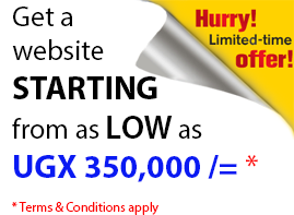 Get website from as low as UGX 350,000/=